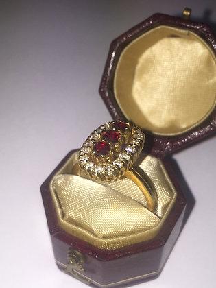 Ruby & Diamond Vintage ring