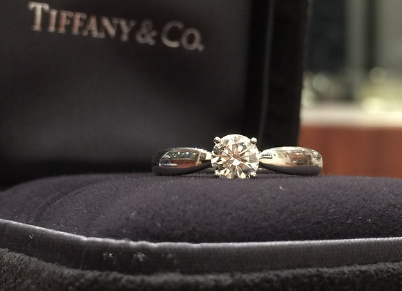 Tiffany & Co 950 Platinum & Diamond Ring