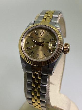 18K Gold & S/Steel Tudor Rolex Princess OysterDate Automatic Watch