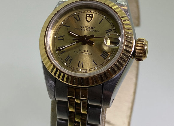 18K Gold & S/Steel Tudor Rolex Princess OysterDate Automatic Watch