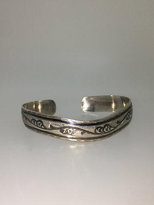 Silver Niello Vintage Bracelet