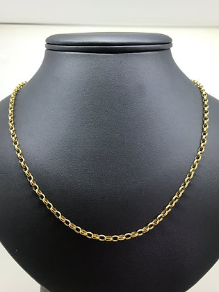 9K Yellow Gold (375) Oval Belcher Link Vintage Chain
