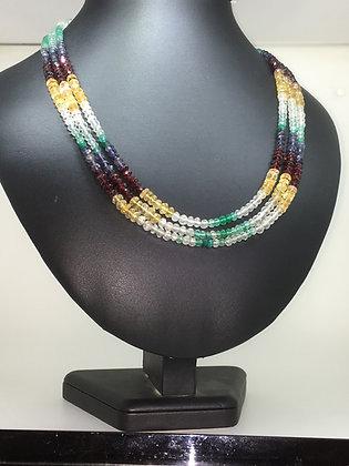 Citrin, Emerald, Garnet & Sapphire Necklace