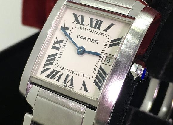 Cartier Tank Française ref 2465 Midsize S/Steel Quartz Watch