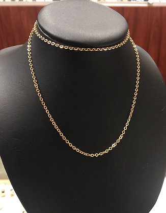 14K Rose Gold Russian 57.5cm Chain