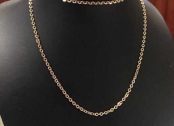 14K Rose Gold Russian 57.5cm Chain
