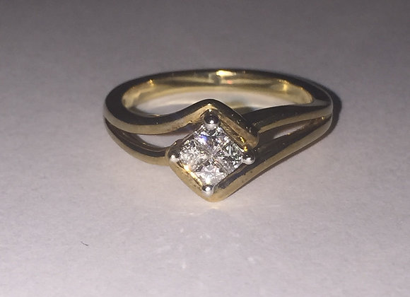 4-Stone Princess Cut Diamond Ring
