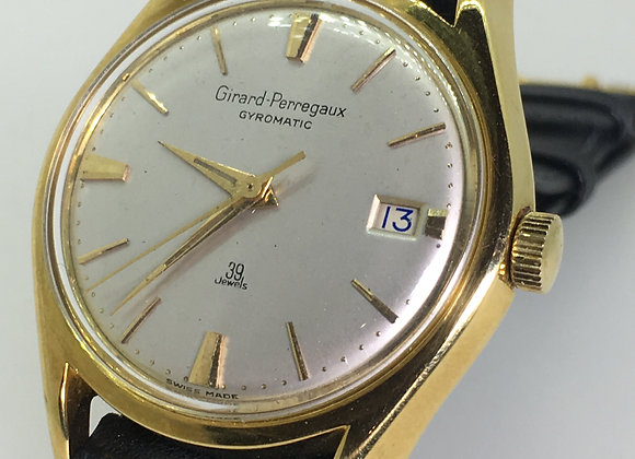 18ct Gold Girard-Perregaux Gyromatic 39 Jewels Mens' Watch