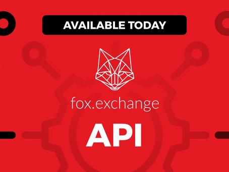 Introducing the fox.exchange API