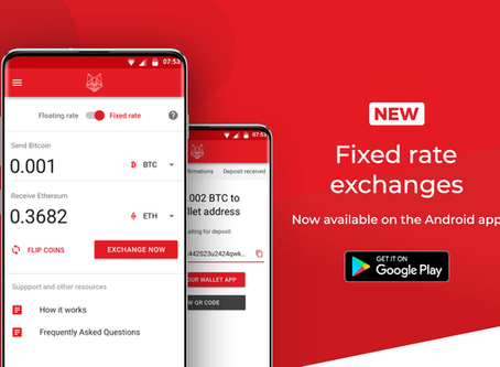 fox.exchange Android App Update: Fixed Exchange Rates!