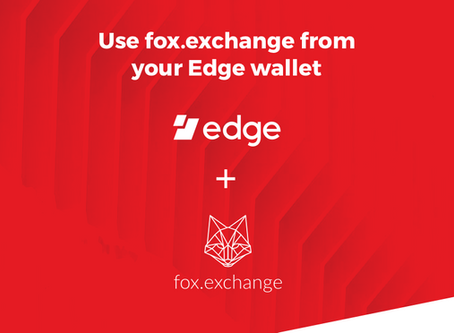 Fox is now integrated in the Edge wallet app for Android and iOS!