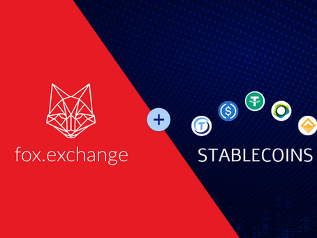 "Say ""Hello"" to USDT! The best stablecoins are now listed on fox.exchange"
