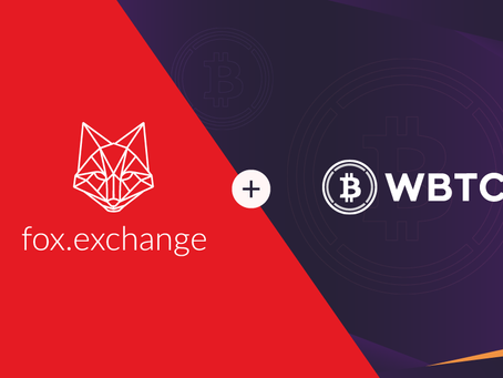 Swap your BTC to WBTC instantly on fox.exchange