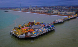 Brighton Pier from the Drone