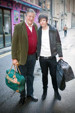 Stephen Fry and partner Elliot