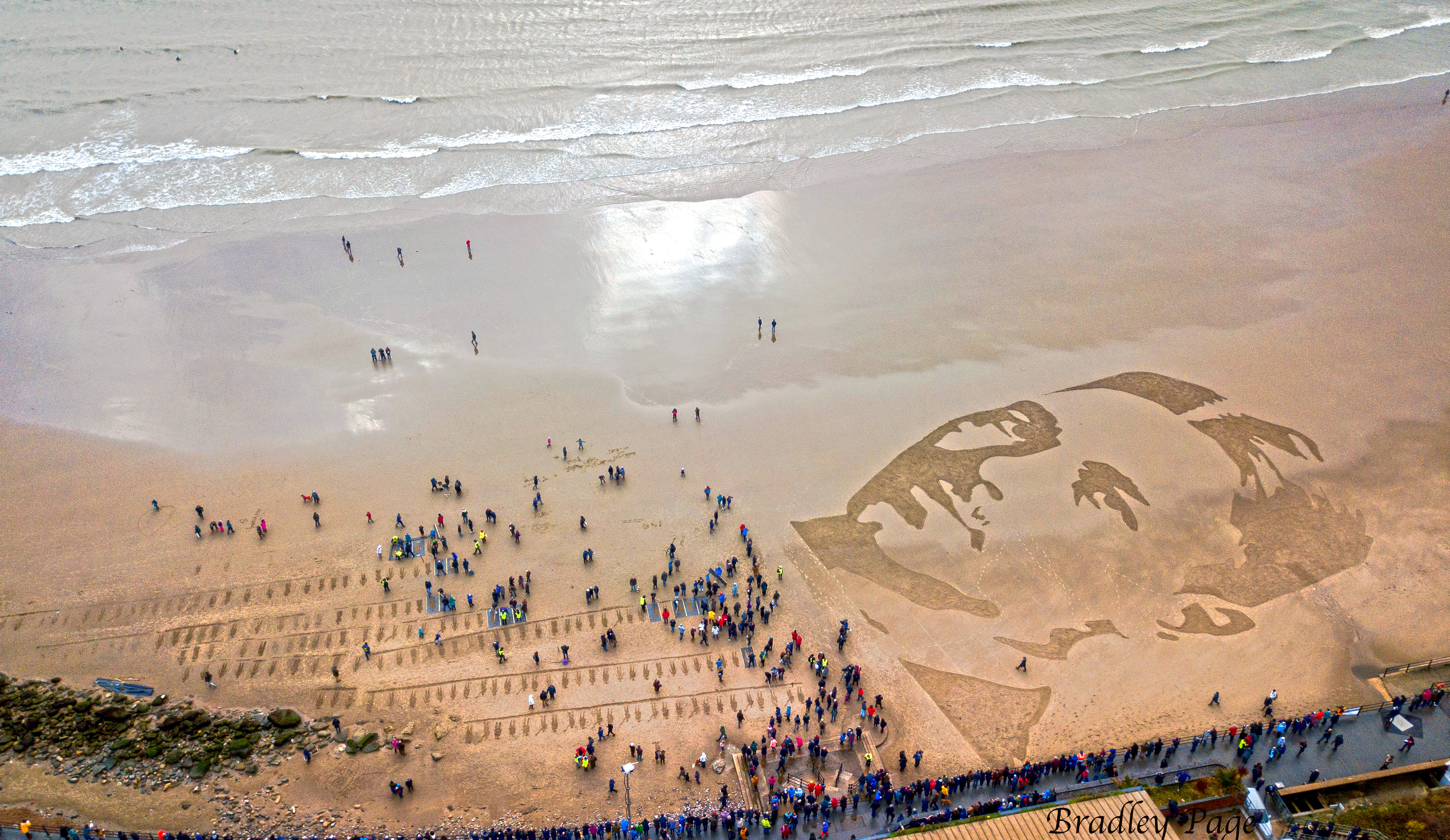 Folkestone Beach drawing