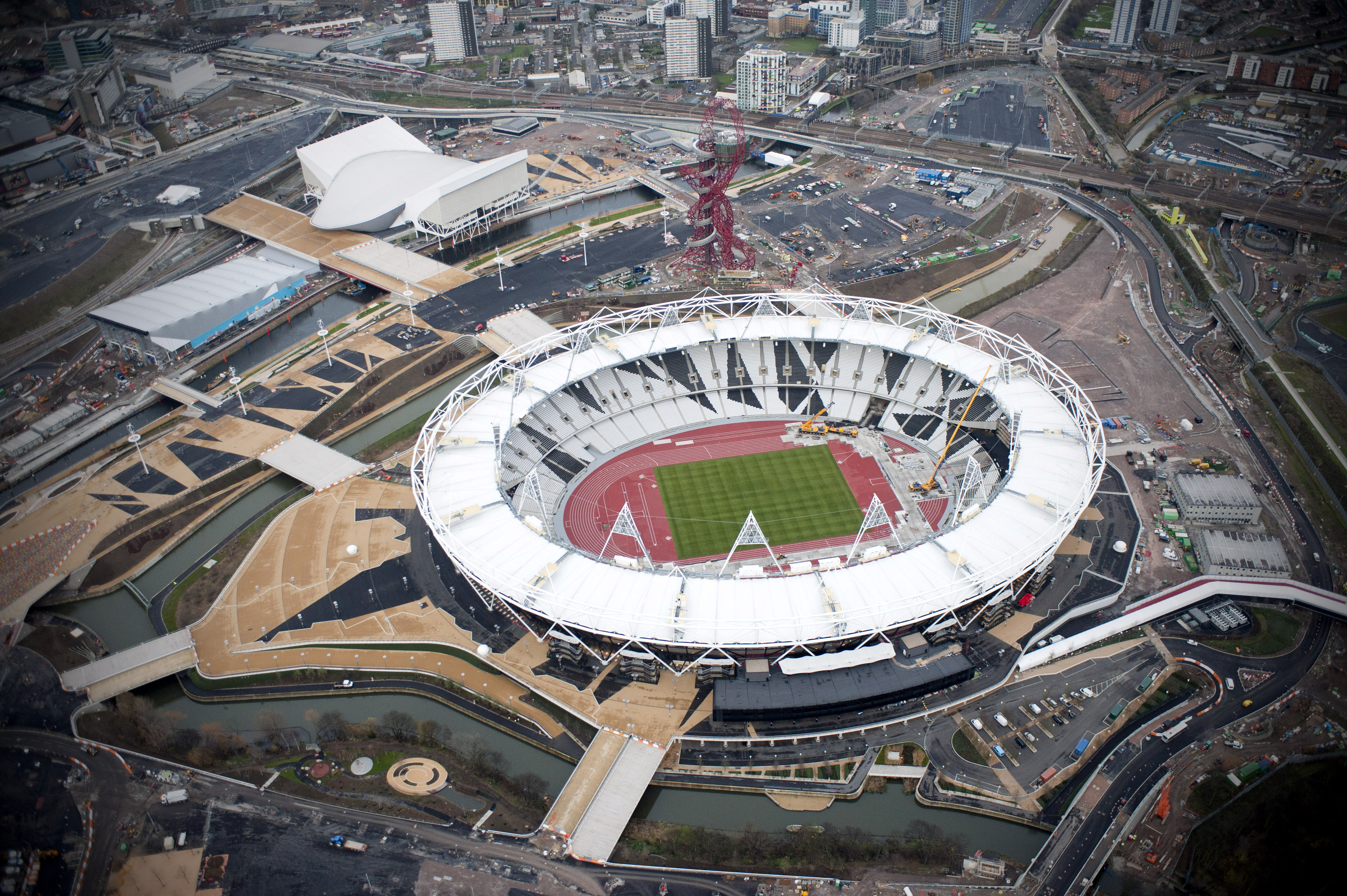 London Olympic Park progress shoot