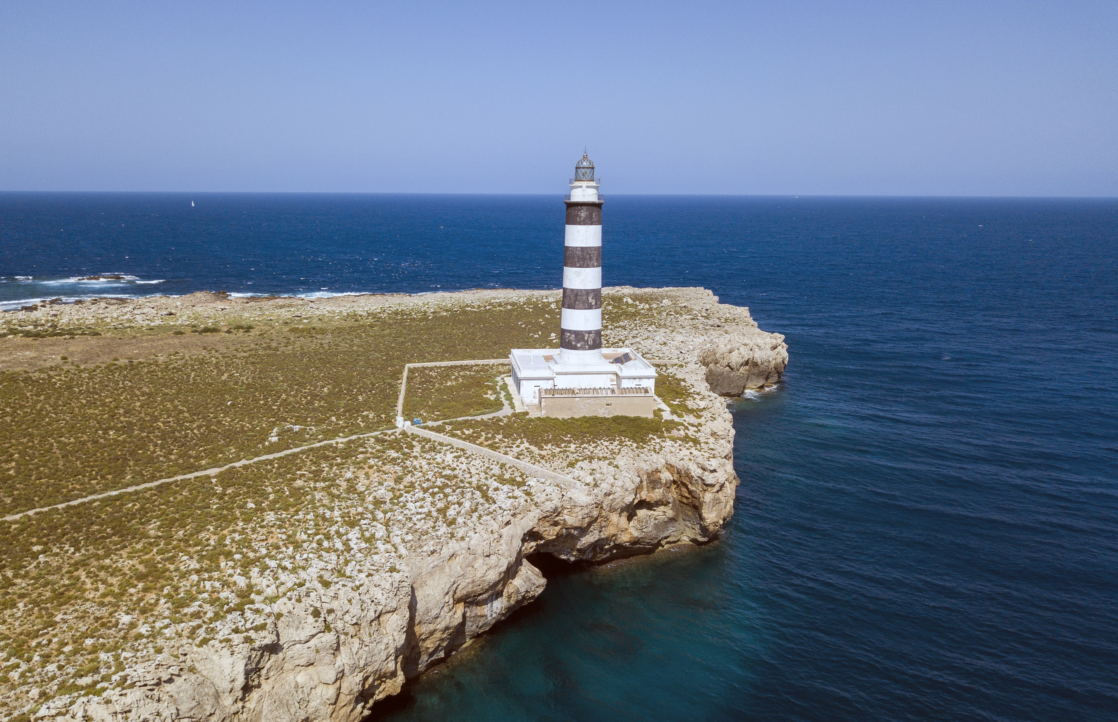 Drone shot of Lighthouse