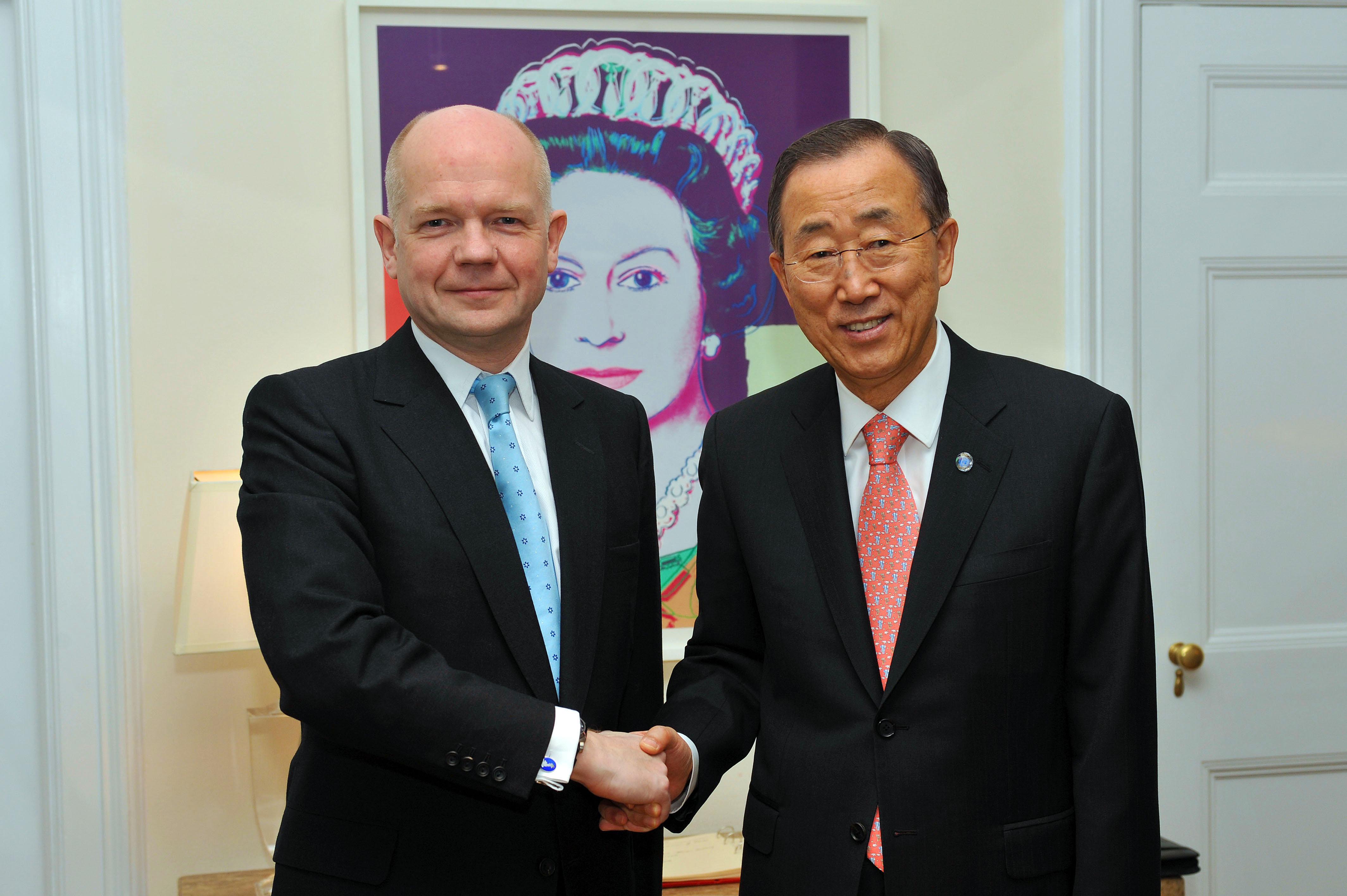 William Hague and Ban Ki-moon