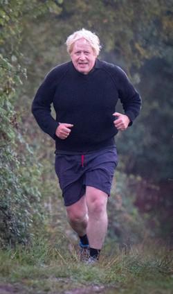 Boris Johnson out running