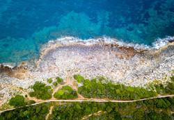 Drone shot of a Menorca beach