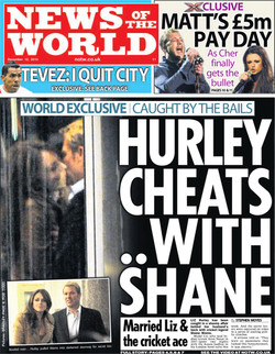 NOTW Hurley Warne front page.jpg
