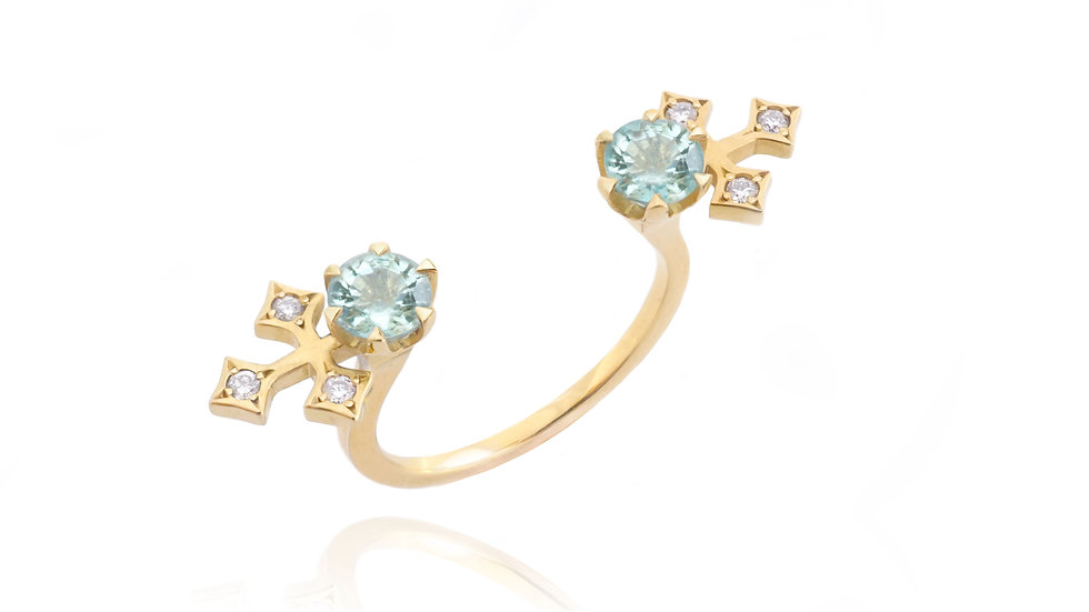 Queen of Life_ double minty emerald ring