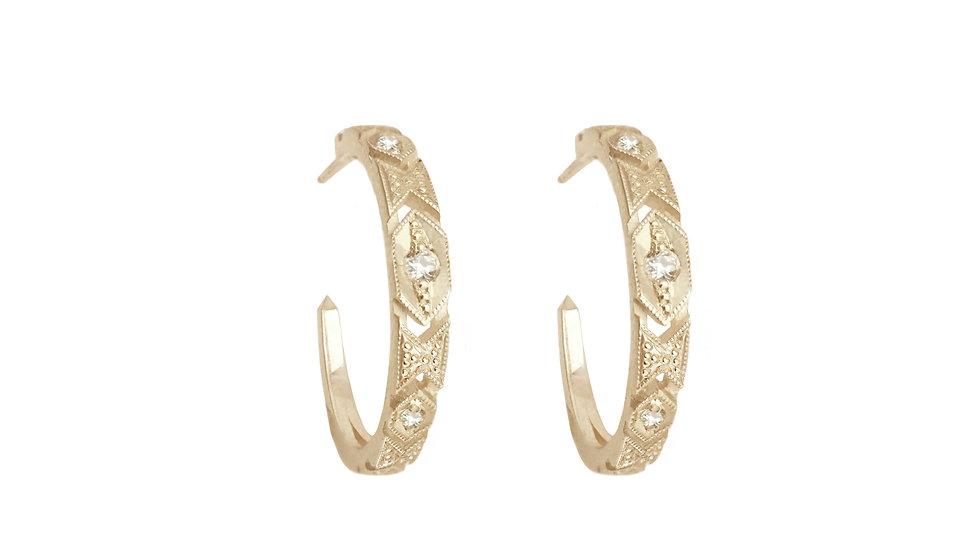 Delicacy Hoop earrings _yellow gold