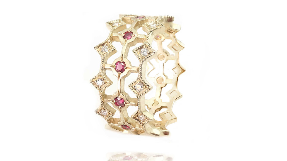 Queen of Hearts ring_ rubies&diamonds