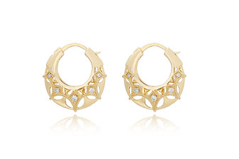 Queen of Diamonds_ Samll Brave Hoops