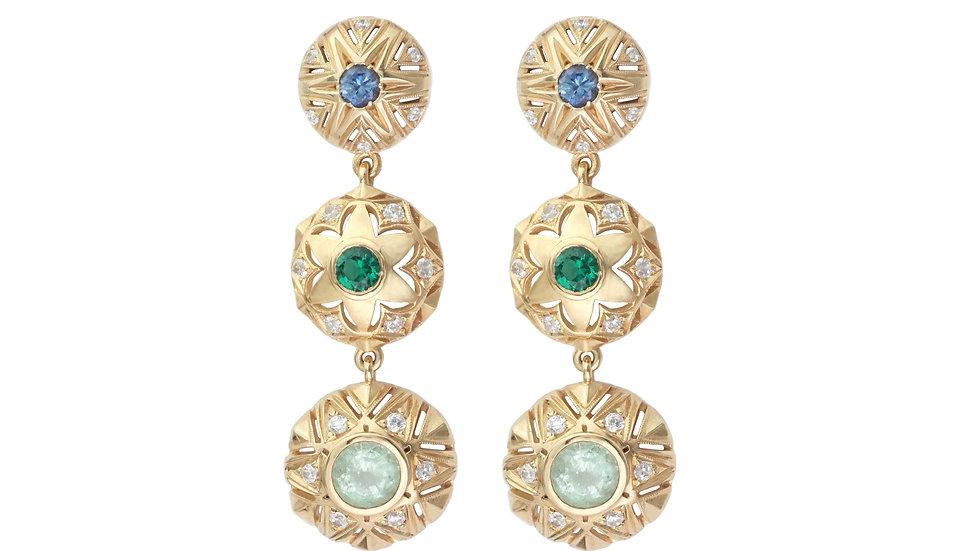Queen of Stars _3 drop earrings