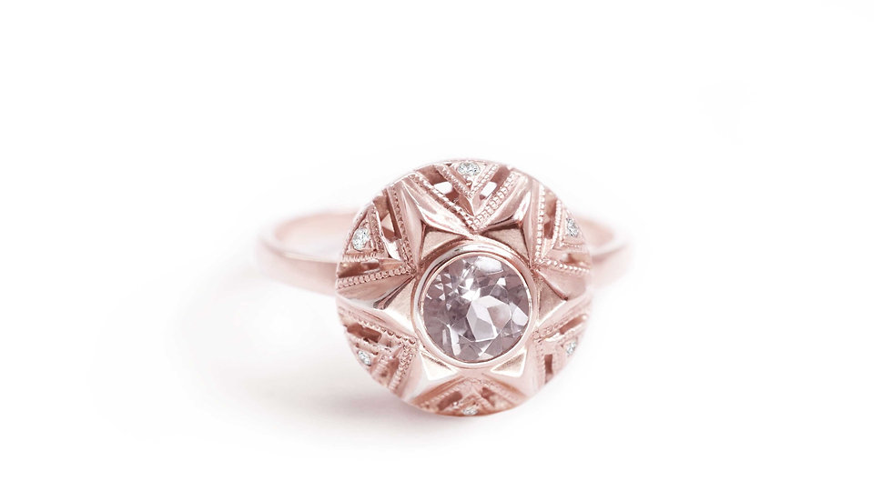 Queen of Stars ring with morganite