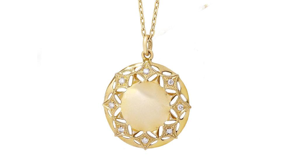 Queen of Diamonds Sun Pendant