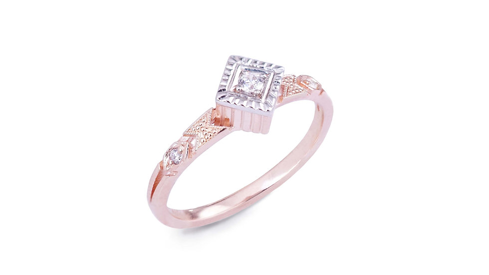 Delicacy Ring with radiant square
