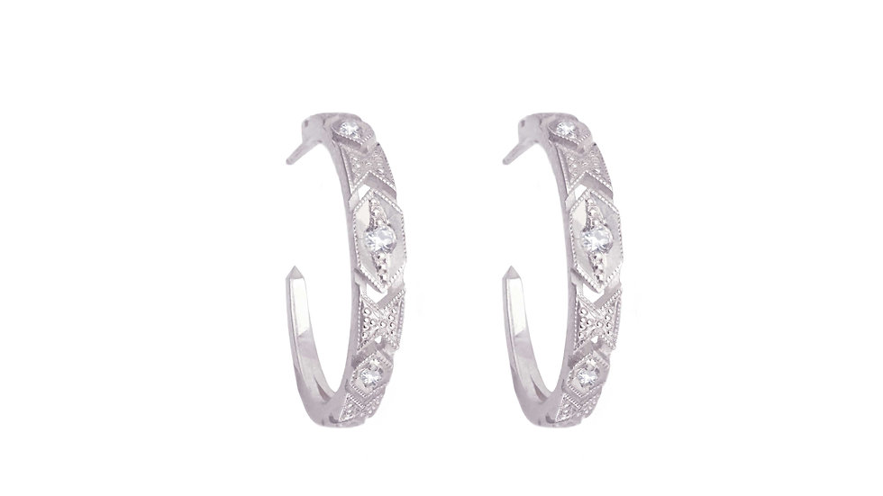 Delicacy Hoop earrings _white gold
