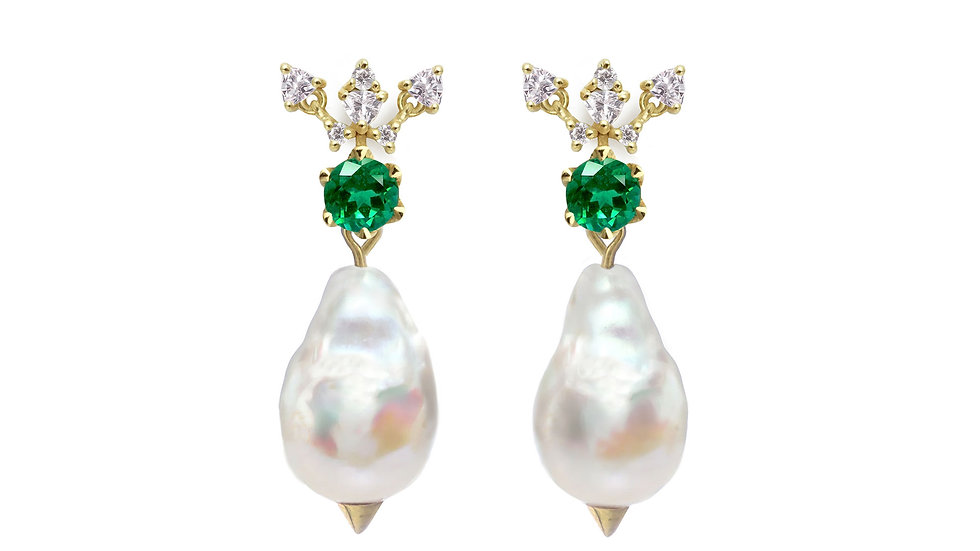 Midsummer Night Dream studs with detachable pearls