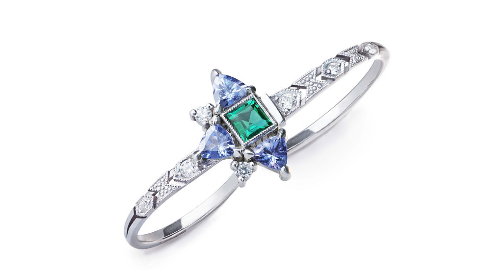 Shooting Star double ring