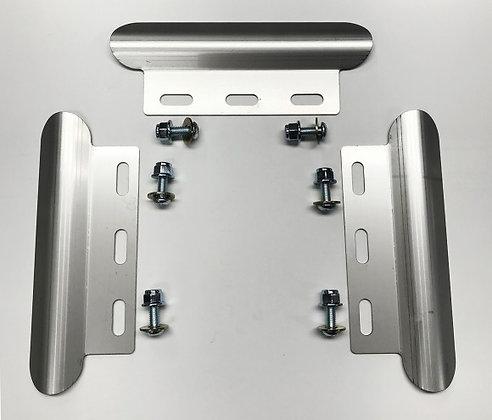3 piece stainless steel skid plate set