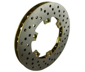 18mm x 208mm X drilled ventilated disc
