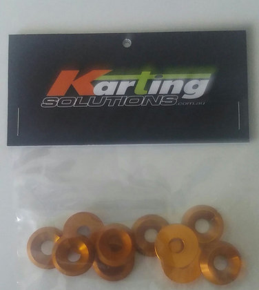 10x M6 x 18mm countersunk washers, Gold
