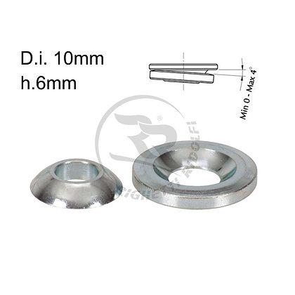 Stub axle height adjuster spherical 10mm x 6mm
