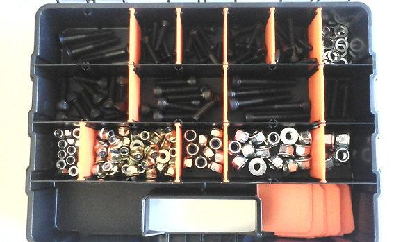 Go kart assorted Nut & bolt kit with case 181 pieces! Suit Tony CRG OTK PCR BULK