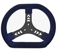 Steering wheel, 320mm suede flat top & bottom, light weight