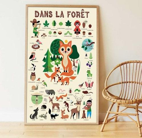 Poppik Poster en stickers La Forêt