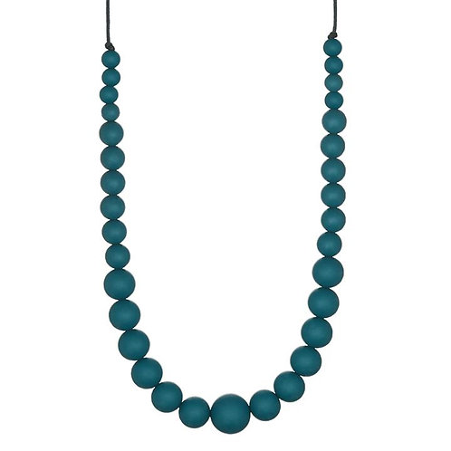 Minty Wendy Collier femme Rounded peacock bleu pétrole