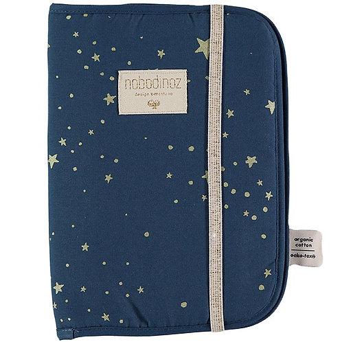 Nobodinoz Protège Carnet de Santé Poema Gold stella Night Blue