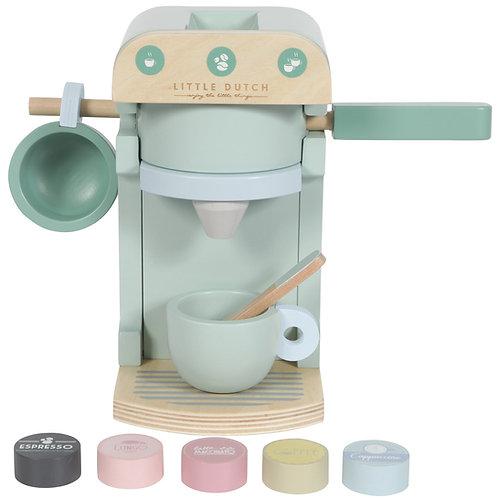 Little Dutch Machine à café Cafetière en bois et ses accessoires