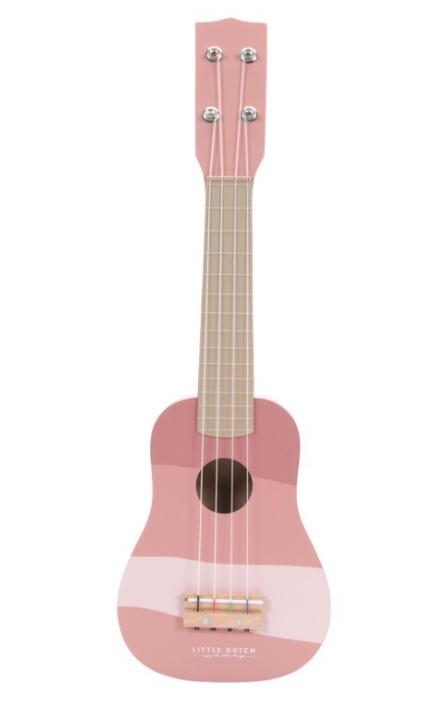 Little Dutch Guitare en bois Rose