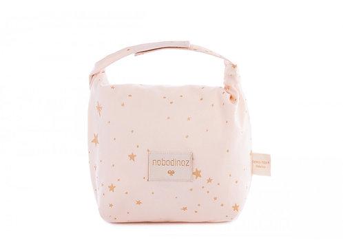 Nobodinoz Sac à gouter eco lunch Gold Stella Dream Pink
