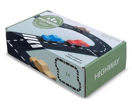 WaytoPlay circuit flexible pour petites voitures Highway Autoroute